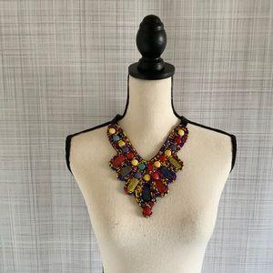 Francescas Beaded Multicolored Necklace